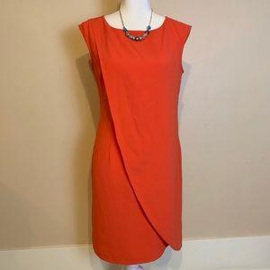 Ann Taylor Orange Dress Size 4